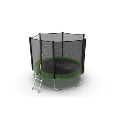 Батут EVO Jump External 6ft (Green) с внешней сеткой и лестницей, диаметр 6ft (зеленый) (фото, вид 1)
