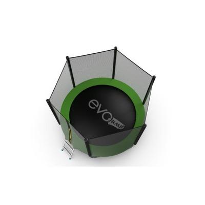Батут EVO Jump External 6ft (Green) с внешней сеткой и лестницей, диаметр 6ft (зеленый) (фото, вид 3)