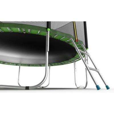 Батут EVO Jump External 6ft (Green) с внешней сеткой и лестницей, диаметр 6ft (зеленый) (фото, вид 4)