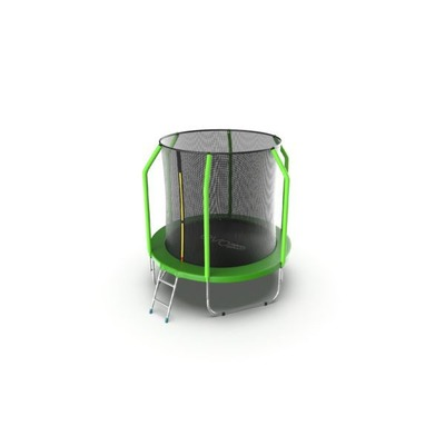 Батут EVO Jump Cosmo 6ft (Green) с внутренней сеткой и лестницей (фото, вид 1)