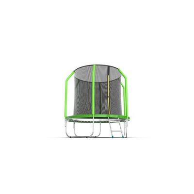 Батут EVO Jump Cosmo 6ft (Green) с внутренней сеткой и лестницей (фото, вид 2)
