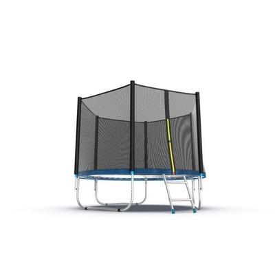 Батут EVO JUMP External 8ft (Blue) с внешней сеткой и лестницей (фото, вид 1)