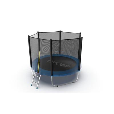 Батут EVO JUMP External 8ft (Blue) с внешней сеткой и лестницей (фото, вид 3)
