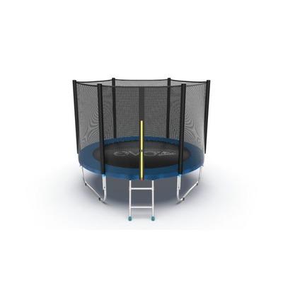 Батут EVO JUMP External 8ft (Blue) с внешней сеткой и лестницей (фото, вид 4)