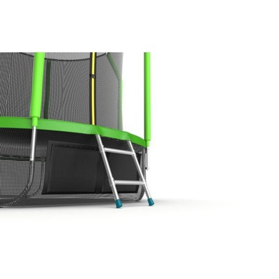 Батут EVO JUMP Cosmo 8ft (Green) + Lower net с внутренней сеткой и лестницей (фото, вид 1)