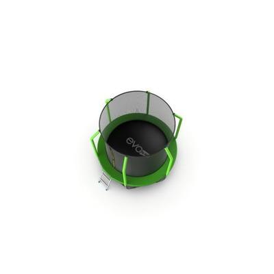 Батут EVO JUMP Cosmo 8ft (Green) + Lower net с внутренней сеткой и лестницей (фото, вид 3)