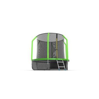 Батут EVO JUMP Cosmo 8ft (Green) + Lower net с внутренней сеткой и лестницей (фото, вид 4)