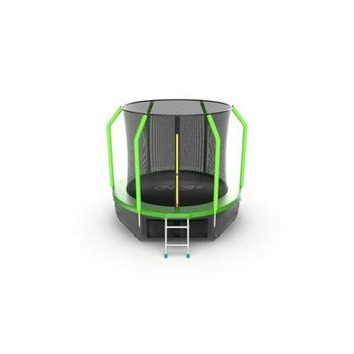 Батут EVO JUMP Cosmo 8ft (Green) + Lower net с внутренней сеткой и лестницей (фото, вид 5)