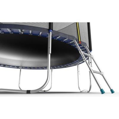 Батут EVO JUMP External 10ft (Blue) с внешней сеткой и лестницей (фото, вид 1)