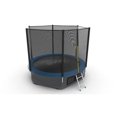 Батут EVO JUMP External 10ft (Blue) + Lower net. с внешней сеткой и лестницей (фото, вид 1)