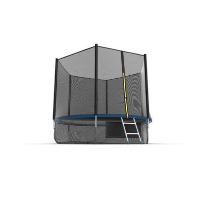 Батут EVO JUMP External 10ft (Blue) + Lower net. с внешней сеткой и лестницей (фото, вид 3)