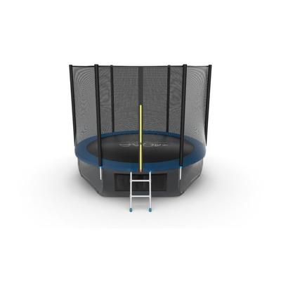Батут EVO JUMP External 10ft (Blue) + Lower net. с внешней сеткой и лестницей (фото, вид 4)