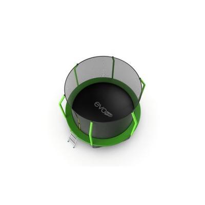 Батут EVO JUMP Cosmo 10ft (Green) + Lower net с внутренней и нижней сеткой и лестницей (фото, вид 3)