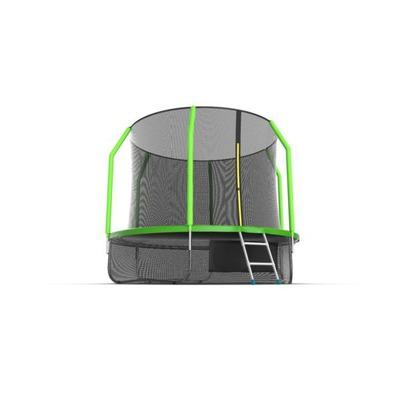 Батут EVO JUMP Cosmo 10ft (Green) + Lower net с внутренней и нижней сеткой и лестницей (фото, вид 4)