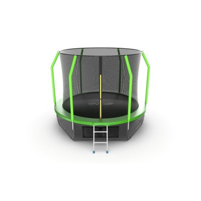 Батут EVO JUMP Cosmo 10ft (Green) + Lower net с внутренней и нижней сеткой и лестницей (фото, вид 5)