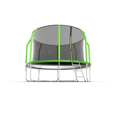 Батут EVO JUMP Cosmo 12ft (Green) с внутренней сеткой и лестницей (фото, вид 1)
