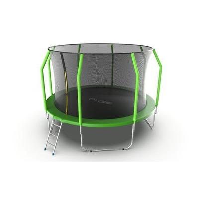 Батут EVO JUMP Cosmo 12ft (Green) с внутренней сеткой и лестницей (фото, вид 2)