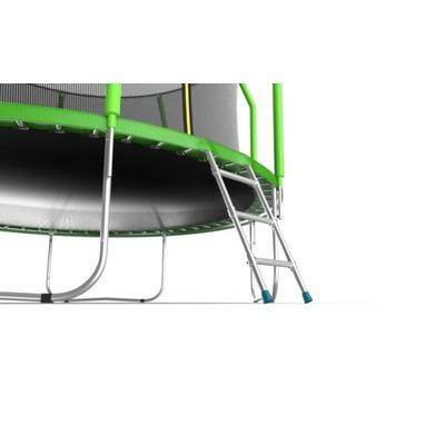 Батут EVO JUMP Cosmo 12ft (Green) с внутренней сеткой и лестницей (фото, вид 3)