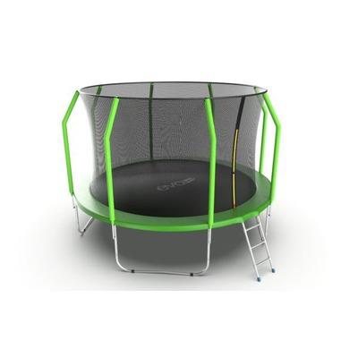 Батут EVO JUMP Cosmo 12ft (Green) с внутренней сеткой и лестницей (фото, вид 4)