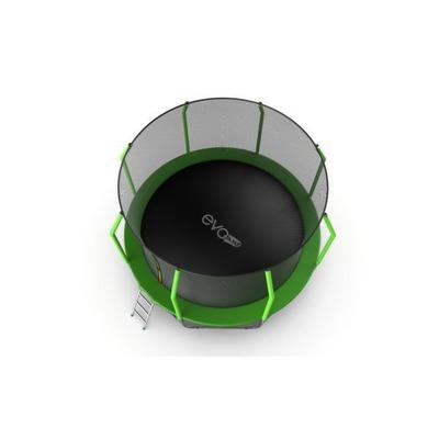 Батут EVO JUMP Cosmo 12ft (Green) с внутренней сеткой и лестницей (фото, вид 5)