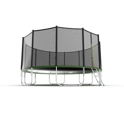 Батут EVO JUMP External 16ft (Green) с внешней сеткой и лестницей (фото, вид 3)