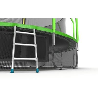 Батут EVO JUMP Cosmo 16ft (Green) + Lower net с внутренней и нижней сеткой и лестницей (фото, вид 2)