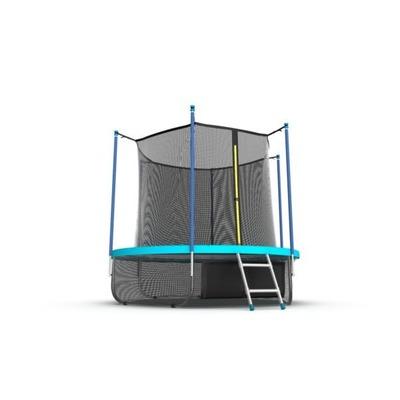 EVO JUMP Internal 6ft (Wave). Батут с внутренней сеткой и лестницей, диаметр 6ft (морская волна) + нижняя сеть (фото, вид 3)