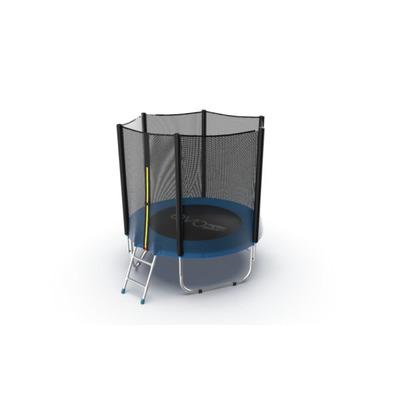 Батут EVO JUMP External 6ft (Blue) с внешней сеткой и лестницей, диаметр 6ft (синий) (фото, вид 1)