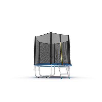 Батут EVO JUMP External 6ft (Blue) с внешней сеткой и лестницей, диаметр 6ft (синий) (фото, вид 2)