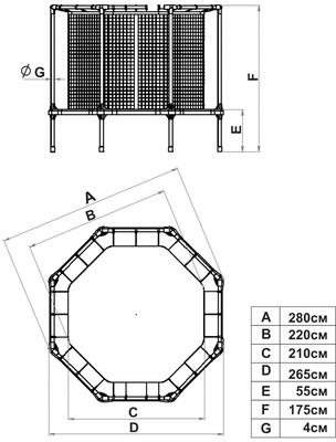 Батут Leco Starter 270 см (фото, вид 1)