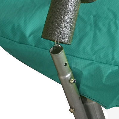 Батут DFC JUMP 12ft c сеткой, цвет green (фото, вид 4)