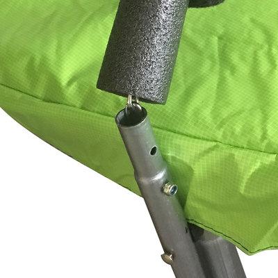 Батут DFC JUMP 12ft складной, c сеткой, цвет apple green (фото, вид 4)