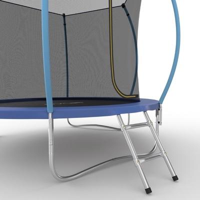 Батут EVO JUMP Internal 8ft (Blue) с внутренней сеткой и лестницей (фото, вид 3)