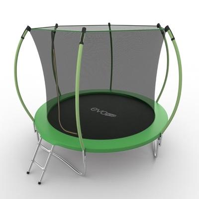 Батут EVO JUMP Internal 8ft (Green) с внутренней сеткой и лестницей, диаметр 8ft (зеленый) (фото, вид 1)
