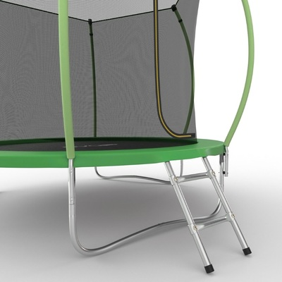 Батут EVO JUMP Internal 8ft (Green) с внутренней сеткой и лестницей, диаметр 8ft (зеленый) (фото, вид 3)