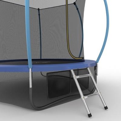 Батут EVO JUMP Internal 8ft (Blue) + Lower net с внутренней и нижней сеткой и лестницей (фото, вид 3)