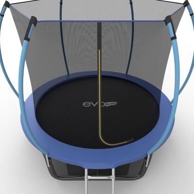 Батут EVO JUMP Internal 8ft (Blue) + Lower net с внутренней и нижней сеткой и лестницей (фото, вид 4)