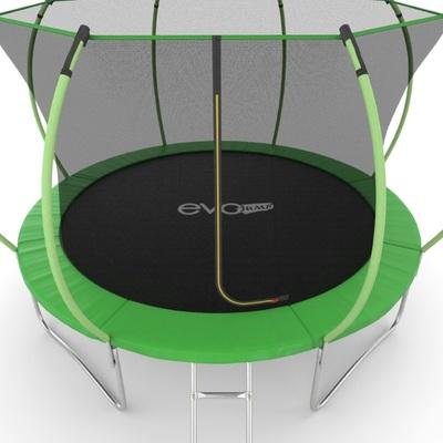 Батут EVO JUMP Internal 12ft (Green) с внутренней сеткой и лестницей (фото, вид 4)