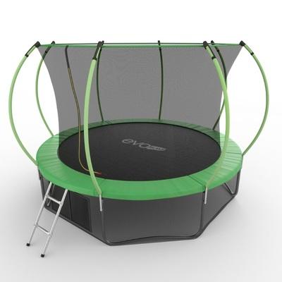 Батут EVO JUMP Internal 12ft (Green) + Lower net с внутренней и нижней сеткой и лестницей (фото, вид 2)