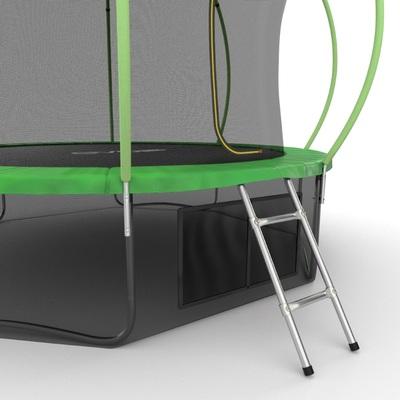 Батут EVO JUMP Internal 12ft (Green) + Lower net с внутренней и нижней сеткой и лестницей (фото, вид 3)