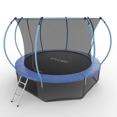 Батут EVO JUMP Internal 12ft (Blue) + Lower net с внутренней и нижней сеткой и лестницей (фото, вид 2)