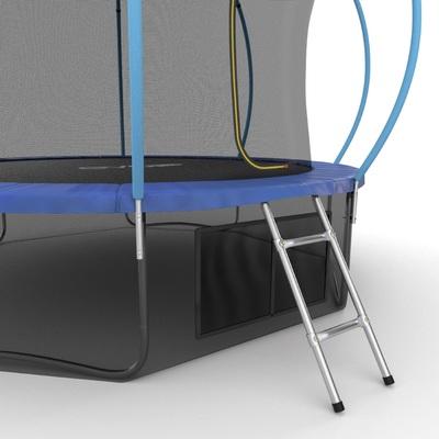 Батут EVO JUMP Internal 12ft (Blue) + Lower net с внутренней и нижней сеткой и лестницей (фото, вид 3)