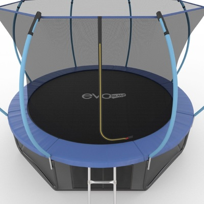 Батут EVO JUMP Internal 12ft (Blue) + Lower net с внутренней и нижней сеткой и лестницей (фото, вид 4)