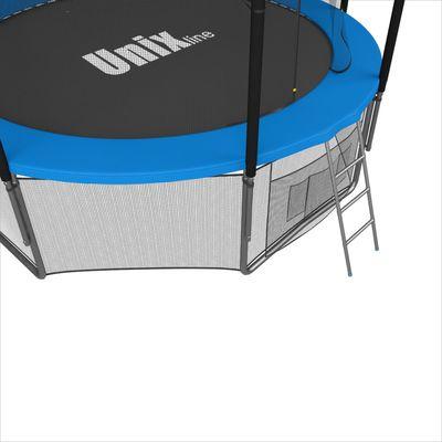 Батут с сеткой и лестницей Unix 6 ft (183м). Внутренняя сетка. BLUE. (фото, вид 2)