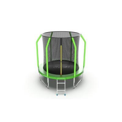 Батут EVO Jump Cosmo 6ft (Green) с внутренней сеткой и лестницей (фото)
