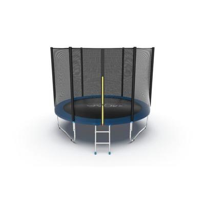 Батут EVO JUMP External 10ft (Blue) с внешней сеткой и лестницей (фото)