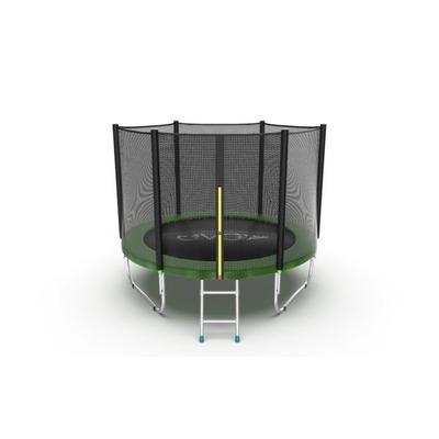 Батут EVO Jump External 6ft (Green) с внешней сеткой и лестницей, диаметр 6ft (зеленый) (фото)