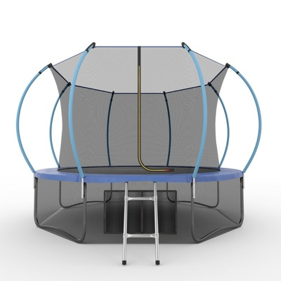 Батут EVO JUMP Internal 12ft (Blue) + Lower net с внутренней и нижней сеткой и лестницей (фото)