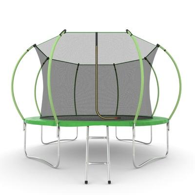 Батут EVO JUMP Internal 12ft (Green) с внутренней сеткой и лестницей (фото)