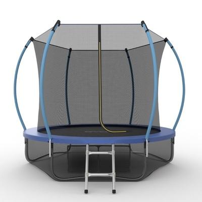 Батут EVO JUMP Internal 8ft (Blue) + Lower net с внутренней и нижней сеткой и лестницей (фото)